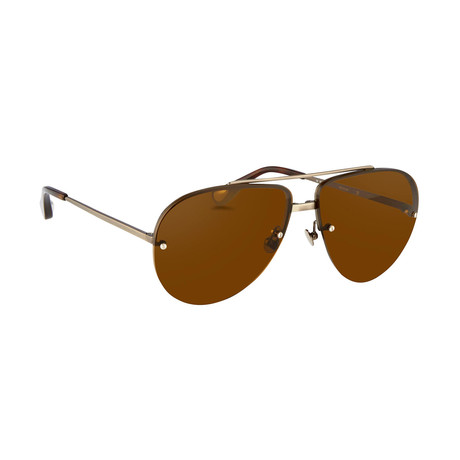 Men's AD13C3 Sunglasses // White Gold + Silver