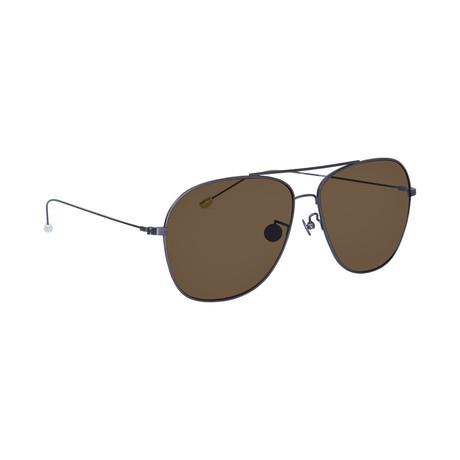 Men's AD48C3 Sunglasses // White Gold + Silver