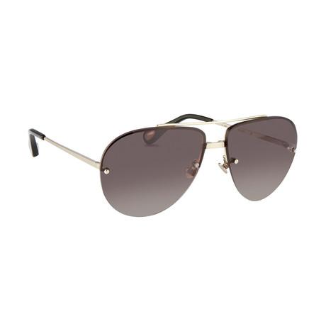 Men's AD13C1 Sunglasses // White Gold + Silver
