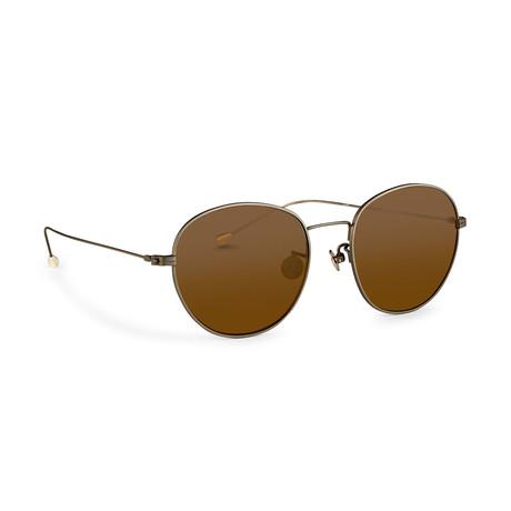 Men's AD28C3 Sunglasses // White Gold + Silver