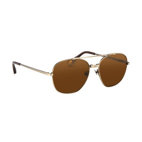 Men's AD12C3 Sunglasses // White Gold + Silver