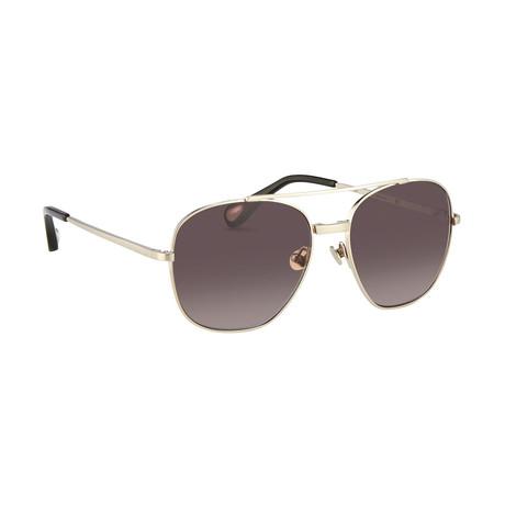 Men's AD12C1 Sunglasses // White Gold + Silver