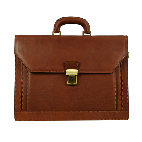 Invisible Man // Leather Briefcase // Brown