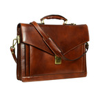 The Magus // Leather Briefcase // Dark Brown