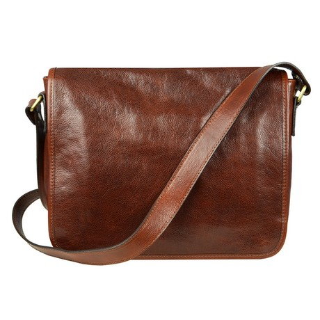 The Stranger // Leather Messenger Bag // Dark Brown