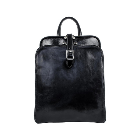 Clarissa // Women's Leather Backpack // Black