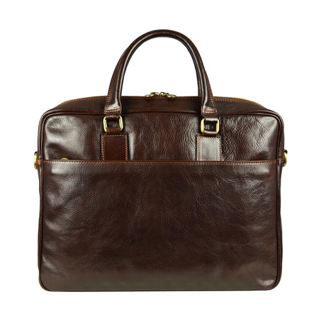 The Little Prince // Leather Briefcase Laptop Bag // Dark Brown