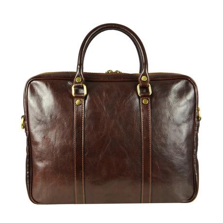 The Hobbit // Leather Laptop Bag // Dark Brown