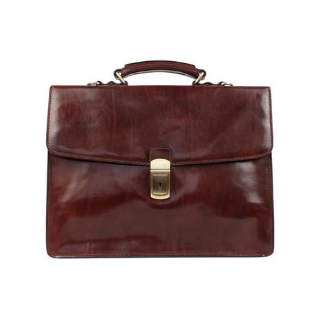 Arthur // Leather Briefcase // Dark Brown