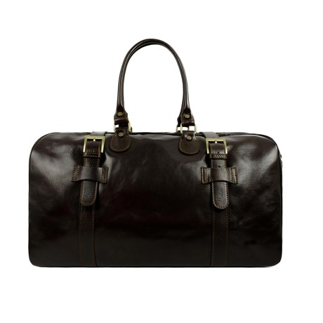 The Lord Of The Rings // Leather Duffel Bag // Dark Brown