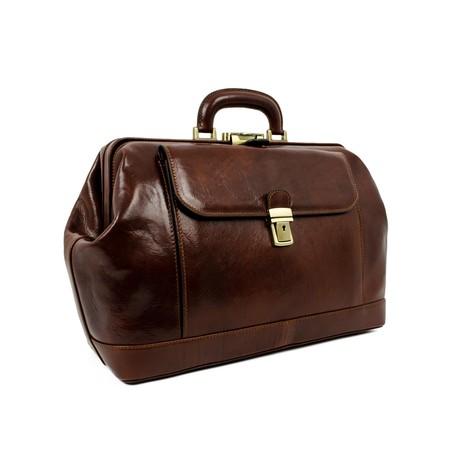 Hamlet // Leather Doctor Bag // Brown