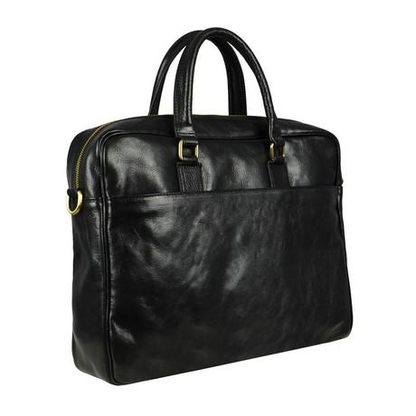 The Little Prince // Leather Briefcase Laptop Bag // Black