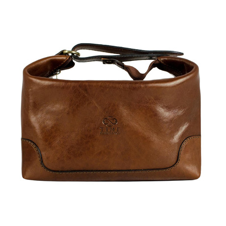 Autumn Leaves // Leather Toiletry Bag // Amber