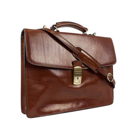 Arthur // Leather Briefcase // Brown