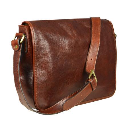 The Stranger // Leather Messenger Bag (Black)