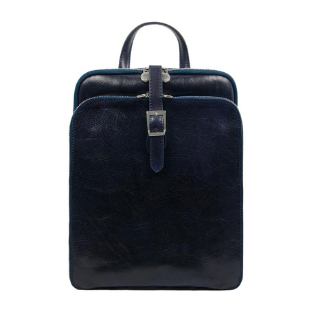 Clarissa // Women's Leather Backpack // Blue
