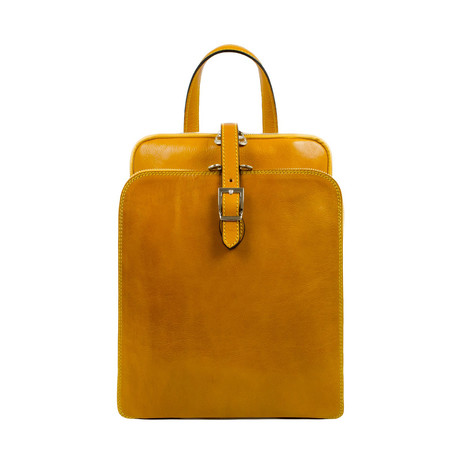 Clarissa // Women's Leather Backpack // Yellow