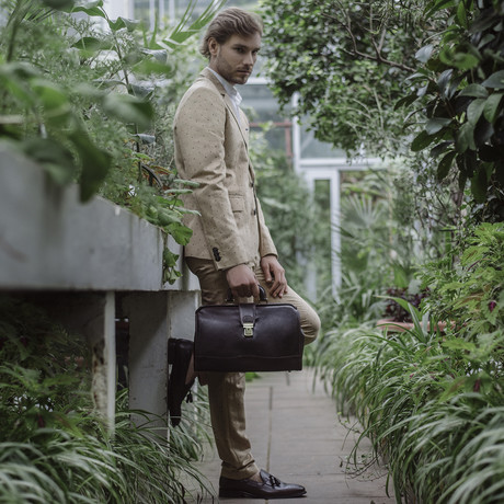 David Copperfield // Small Leather Doctor Bag // Dark Brown