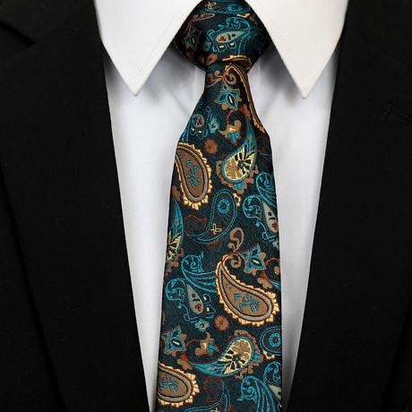Silk Neck Tie + Gift Box // Multicolor Paisley