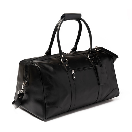 "Tourist Leather Duffel Bag 19.5"" // Black"