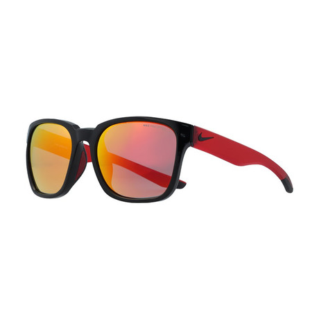 Unisex Recover EV0965 Sunglasses // Black + Red Mirror