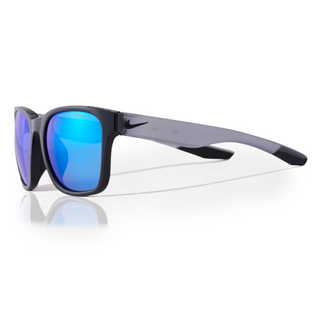 Unisex Recover EV0965 Sunglasses // Black + Gray Blue Mirror