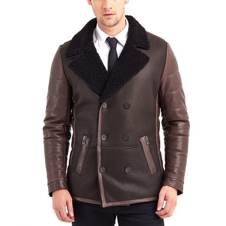 Ethan Leather Jacket // Brown (S)
