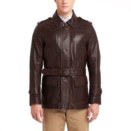 Joseph Leather Jacket // Chestnut (S)