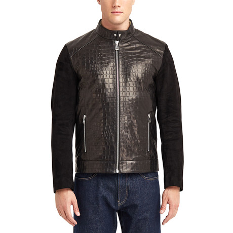 Preston Blouson Leather Jacket // Black (S)