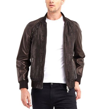 Lewis Blouson Leather Jacket // Bronze (S)