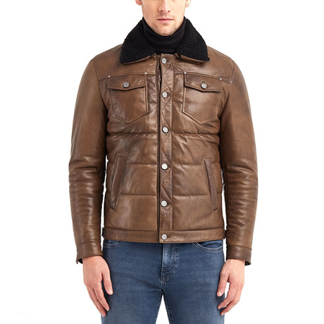 Gregory Leather Jacket // Brown (S)