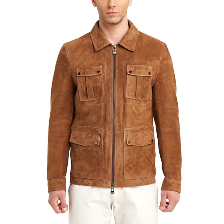 Michael 4 Pocket Leather Jacket // Tobacco (S)