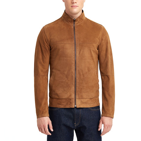 Alan Doubleface Leather Jacket // Tobacco (S)