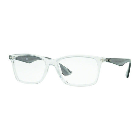 Ray-Ban // Men's Rectangle Optical Frame // Transparent + Gray