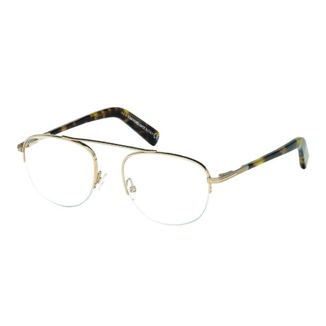 Men's Metal Half Rim Optical Frames // Gold