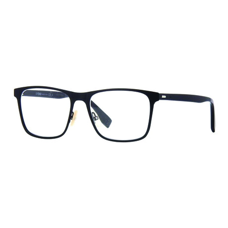 Fendi // Men's Metal Square Rectangle Optical Frames // Black