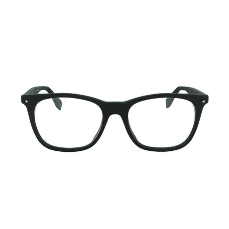 Fendi // Men's Square Optical Frames // Matte Black