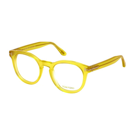 Tom Ford // Men's Yellow Round Acetate Optical Frames // Clear Yellow
