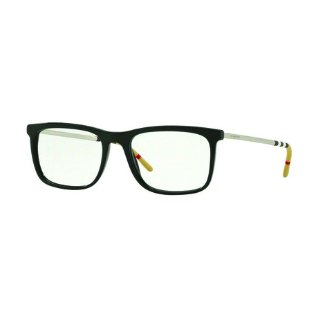 Burberry // Men's Acetate + Metal Rectangle Optical Frames // Black