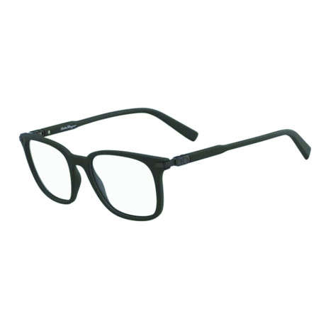 Salvatore Ferragamo // Men's Rectangle Optical Frames // Green Horn