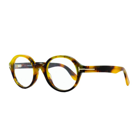 Tom Ford // Small Round Tortoise Acetate Optical Frames // Honey Havana