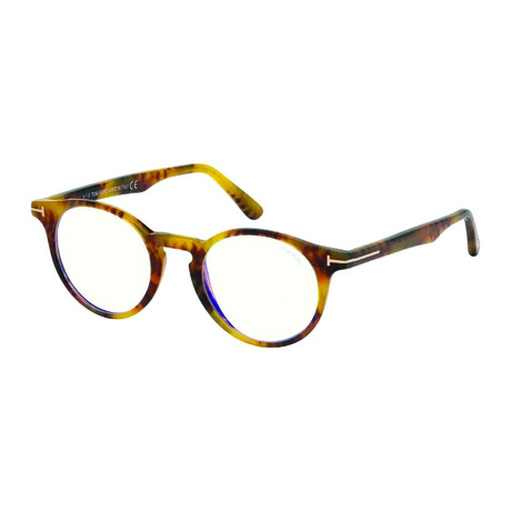 Tom Ford // Men's Classic Round Acetate Optical Frames // Tortoise
