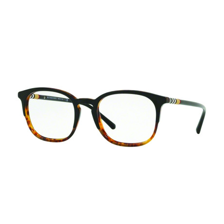Burberry // Men's Two Tone Classic Acetate Optical Frames // Black + Havana
