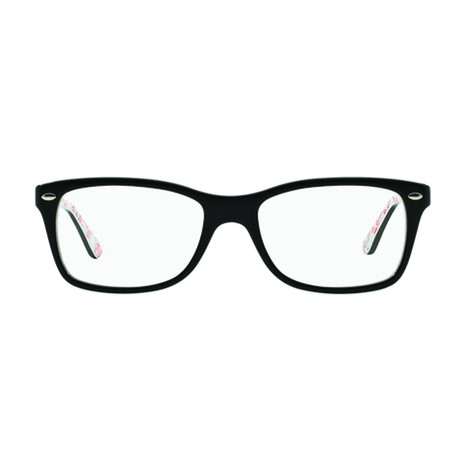 Ray-Ban // Men's Wayfarer Optical Frames // Black + White + Red
