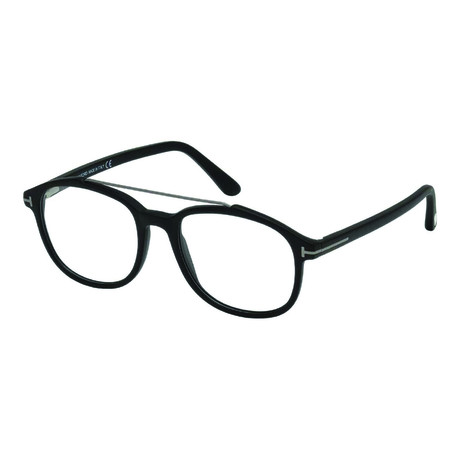 Men's Acetate Top Bar Optical Frames // Black