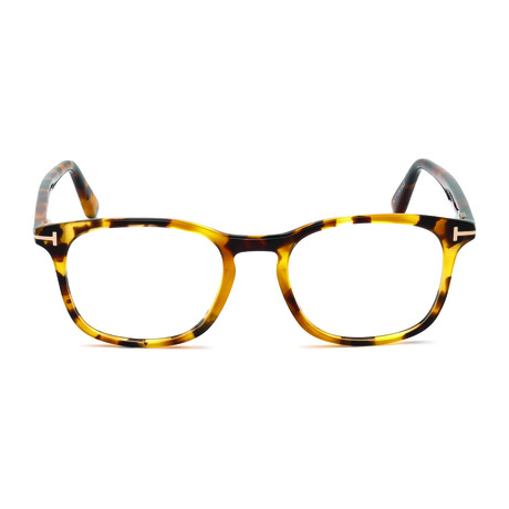 Tom Ford // Men's Rectangle Tortoise Acetate Optical Frames // Tortoise
