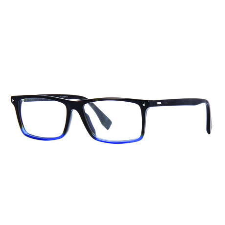 Fendi // Men's Acetate Rectangle Optical Frames // Havana Blue