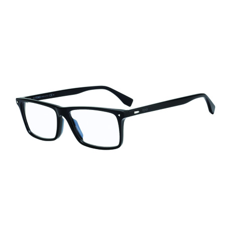 Fendi // Men's Acetate Rectangle Optical Frames // Black