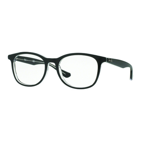 Ray-Ban // Men's Classic Square Optical Frame // Black + Transparent