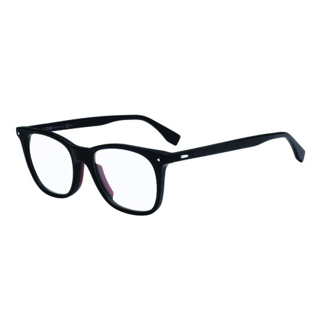 Fendi // Men's Acetate Wayfarer Optical Frames // Matte Black